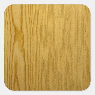 Pine Texture Square Sticker