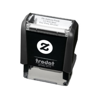 Pine Tree Address Self-inking Stamp