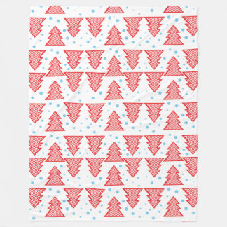 Pine tree and snows Christmas pattern Fleece Blanket