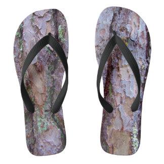 Pine Tree Bark Flip Flops