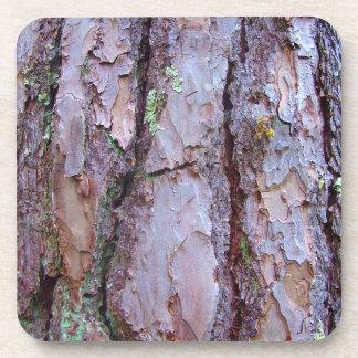 Pine Tree Bark Hard Plastic Coasters