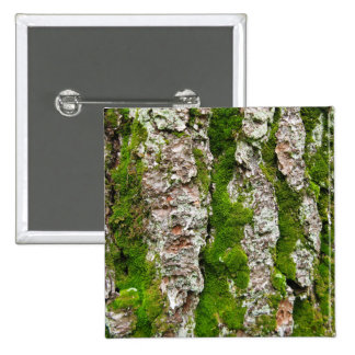 Pine Tree Bark With Moss 15 Cm Square Badge