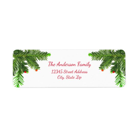 Pine Tree Branch - Address Label