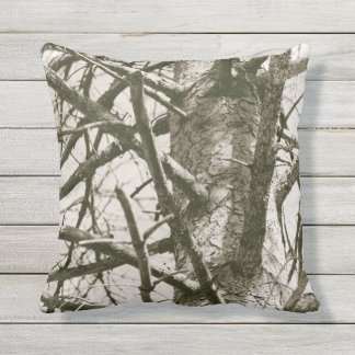 Pine Tree Branches Nature Timber Woodland Throw Pillow