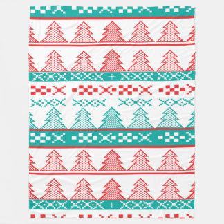 Pine tree Christmas pattern - Christmas gifts Fleece Blanket