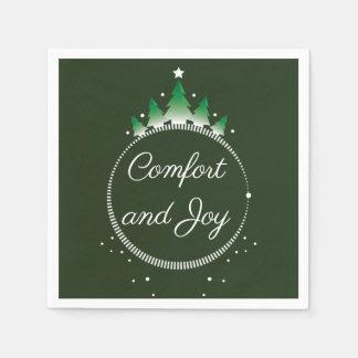 Pine tree Comfort and Joy | Paper Napkins