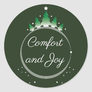 Pine tree Comfort and Joy | Sticker