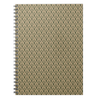 Pine Tree Damask Notepad Notebook