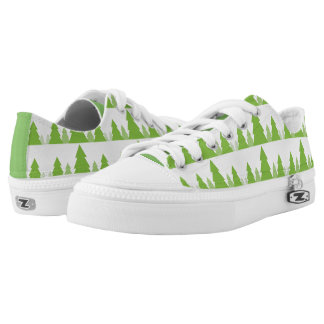 Pine Tree Evergreen Country Woods Sneaker Printed Shoes