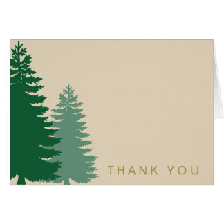 Pine Tree Gold Generic Thank You Card