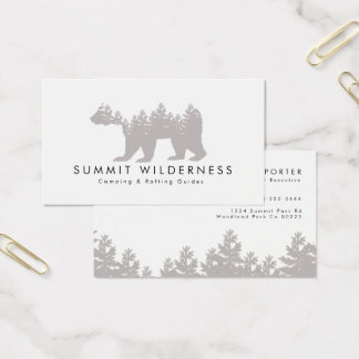 Pine-tree Grizzly Business Card