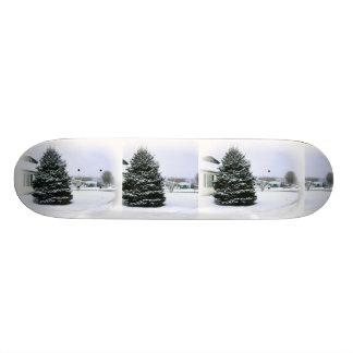 Pine Tree In Snow Skateboard