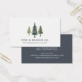 Pine Tree Logo Business Card