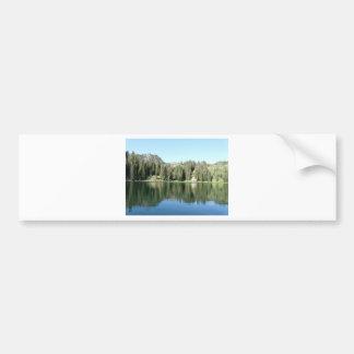 pine tree mirror on lake bumper sticker