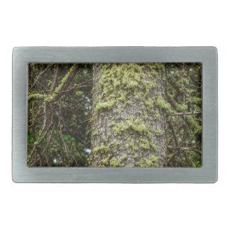 Pine_Tree_Moss Rectangular Belt Buckle
