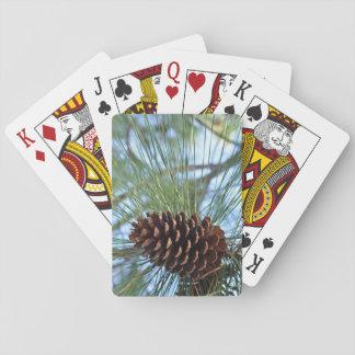 Pine tree pine cone playing cards