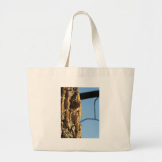 Pine tree resin on the trunk large tote bag
