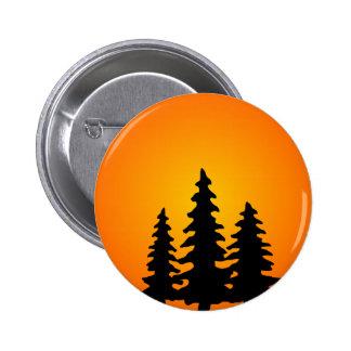 Pine Tree Silhouette 6 Cm Round Badge