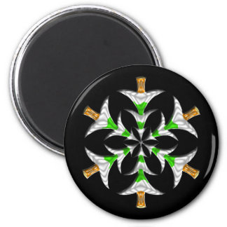 Pine Tree Snowflake - Magnet