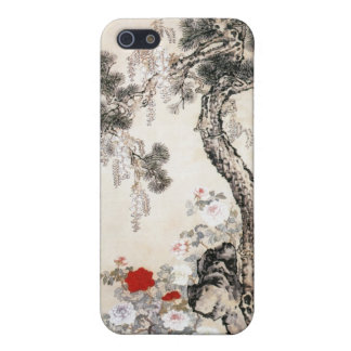 Pine Tree Stone and Wisteria Case For iPhone 5/5S
