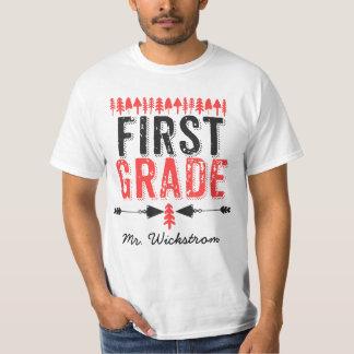 Pine Trees and Arrows First Grade Teacher T-shirt