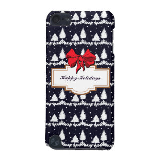 Pine Trees and Snow Happy Holidays iPod Touch 5G Cover