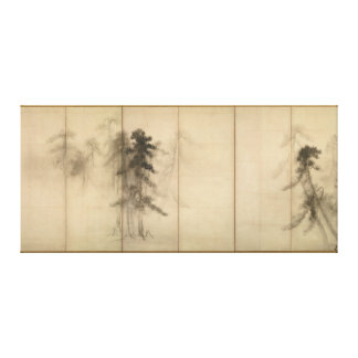 Pine Trees by Hasegawa Tohaku 16th Century Stretched Canvas Prints