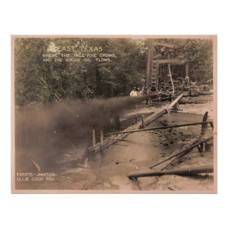 Pine Trees & Crude Oil, Kilgore, TX 1931 Print