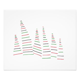 Pine Trees. Forest. Holidays. Merry Christmas. Photo Print