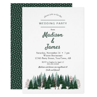 Pine Trees Forest | Wedding Party | Invitation