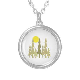 Pine Trees Personalized Necklace