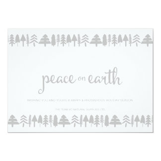 Pine Trees Peace on Earth Corporate Card