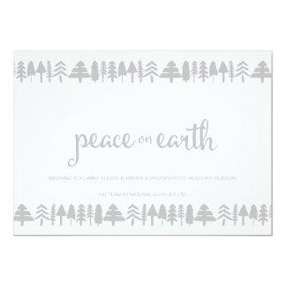Pine Trees Peace on Earth Corporate Card 13 Cm X 18 Cm Invitation Card