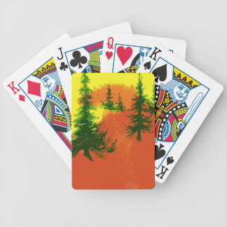 Pine Trees Playing Cards