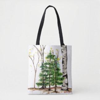 pine trees tote