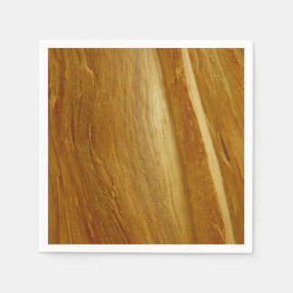 Pine Wood II Faux Wooden Texture Disposable Napkins