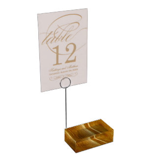 Pine Wood II Faux Wooden Texture Table Card Holder
