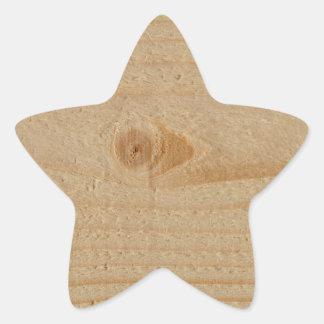 Pine Wood Star Sticker
