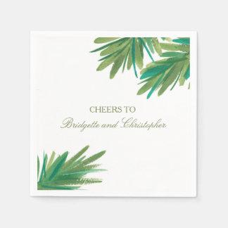 Pine Woods Watercolor | Wedding Reception Disposable Napkins