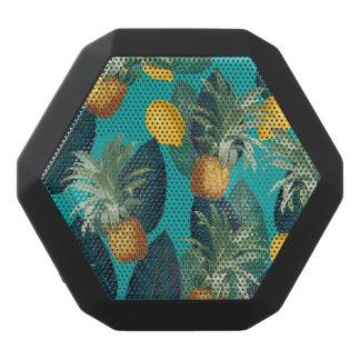 pineaple and lemons teal black bluetooth speaker