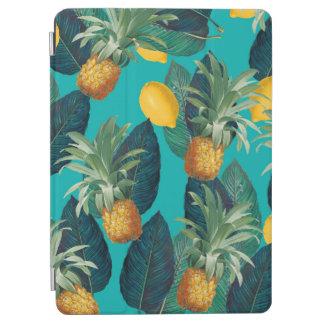 pineaple and lemons teal iPad air cover