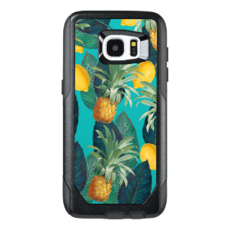 pineaple and lemons teal OtterBox samsung galaxy s7 edge case
