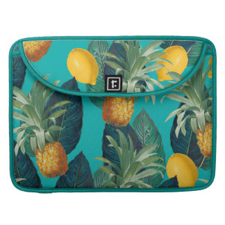 pineaple and lemons teal sleeve for MacBook pro