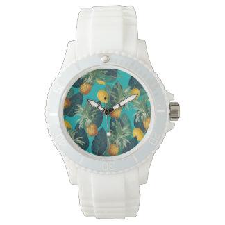 pineaple and lemons teal watch
