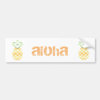 Pineapple Aloha Hawaii! Bumper Sticker