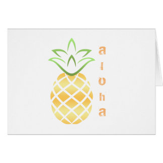 Pineapple Aloha Hawaii! Card