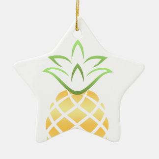 Pineapple Aloha Hawaii! Ceramic Ornament