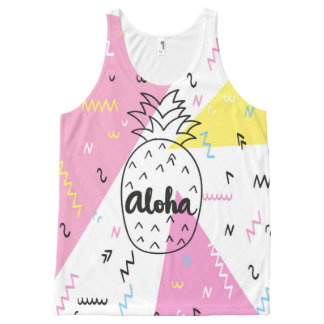 Pineapple aloha hawaiian All-over print tank top