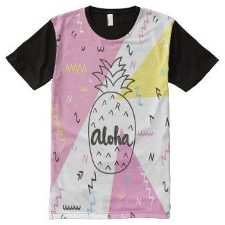 Pineapple aloha hawaiian men's t-shirt