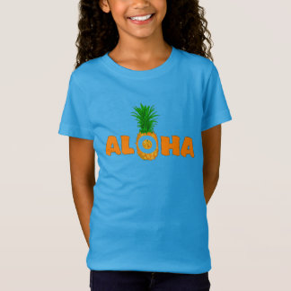 Pineapple Aloha - Summer T Shirt for Girls